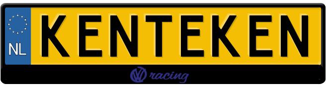 vw-racing-zwart kentekenplaathouder