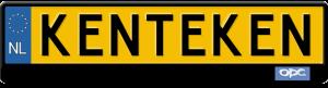 OPEL opc kentekenplaathouder blauwe logo