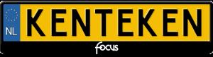 Focus-tekst-kentekenplaathouder