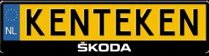 Skoda-logo-kentekenplaathouder