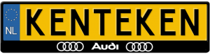 Audi-3D-kentekenplaathouder