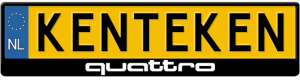 Audi-Quattro-logo-kentekenplaathouder