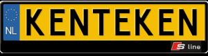 Audi-S-line-kentekenplaathouder-uitstekend
