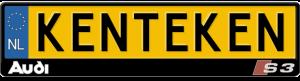 Audi-S3-kentekenplaathouder