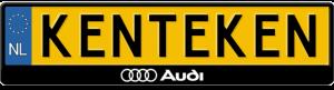 Audi-logo-3D-kentekenplaathouder