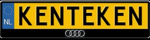 Audi-logo-kentekenplaathouder-uitstekend