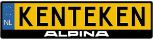 BMW-Alpina-midden-kentekenplaathouder