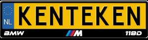 BMW-M-118d-kentekenplaathouder