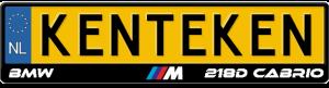 BMW-M-218d-Cabrio-kentekenplaathouder