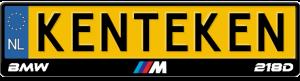 BMW-M-218d-kentekenplaathouder