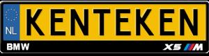 BMW-X5-M-kentekenplaathouder