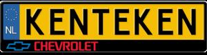 Chevrolet-kentekenplaathouder