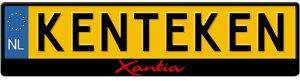 Citroen-Xiantia-kentekenplaathouder