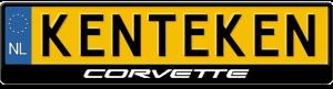 Corvette-kentekenplaathouder