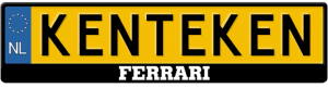 Ferrari-3D-kentekenplaathouder