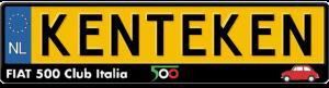 Fiat-500-Club-Italia-kentekenplaathouder