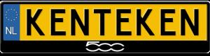 Fiat-500-logo-kentekenplaathouder