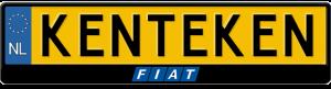 Fiat-midden-blokblauw-kentekenplaathouder