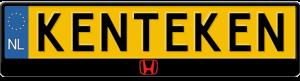 Honda-logo-midden-kentekenplaathouder