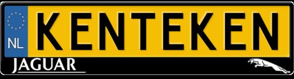 Jaguar-tekst-en-logo-kentekenplaathouder