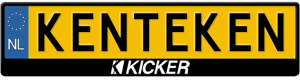 Kicker-Logo-kentekenplaathouder