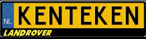 Landrover-geel-kentekenplaathouder