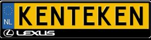 Lexus-logo-kentekenplaathouder