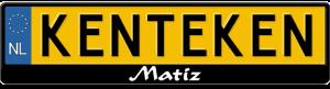 Matiz-kentekenplaathouder