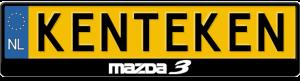 Mazda-3-logo-kentekenplaathouder