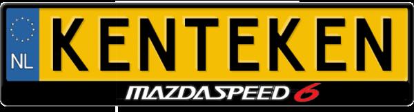 Mazdaspeed-kentekenplaathouder