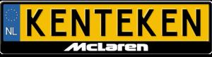 Mclaren-Kentekenplaathouder