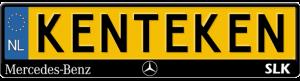 Mercedes-SLK-kentekenplaathouder