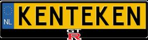 Nissan-GT-R-kentekenplaathouder