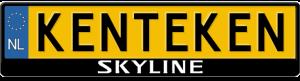 Nissan Skyline logo kentekenplaathouder