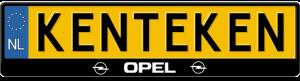 Opel-kentekenplaathouder