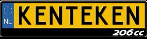 Peugeot-206-logo-kentekenplaathouder