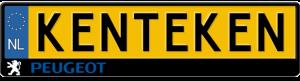 Peugeot-kentekenplaathouder