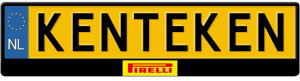 Pirelli-kentekenplaathouder
