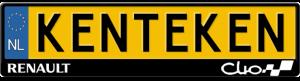 Renault-Clio-kentekenplaathouder