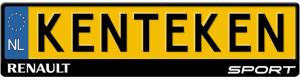 Renault-Sport-kentekenplaathouder