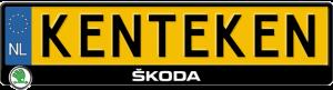 Skoda-kentekenplaathouder