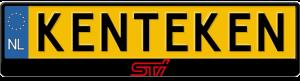 Subaru-STI-logo-kentekenplaathouder