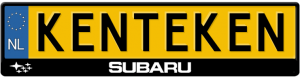 Subaru-kentekenplaathouder