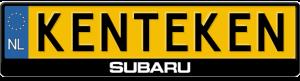 Subaru-midden-kentekenplaathouder