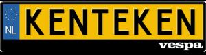 Vespa-old-logo-kentekenplaathouder