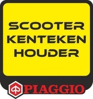 Piaggio kentekenplaathouder scooter rood