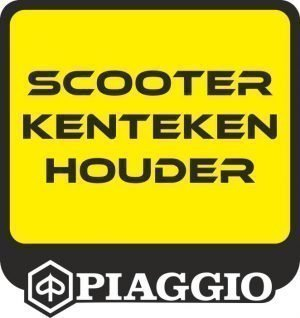 Piaggio kentekenplaathouder scooter wit